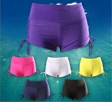 Women Ladies Adjustable Drawstring Swim Shorts  New Boy Style Bikini Bottoms UK