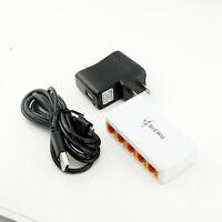 Mini 10/100Mbps 5 Port Micro USB Power Supply Ethernet LAN RJ45 Network Switch
