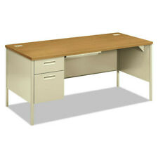 Hon P3266lcl Metro Classic Series 66 In Left Pedestal Desk Harvest Putty New