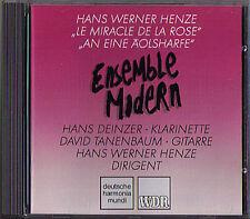 Hans Werner HENZE Le Miracle de la Rose & An eine Äolsharfe CD Ensemble Modern