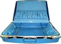 "Vintage Samsonite Saturn Hard SuitCase Travel Luggage 22""x29""X9"" Blue"