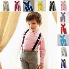 Kids Boy Girls Child Children Clip-on Suspenders Elastic Unisex Adjustable Brace