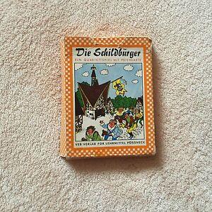 DDR Quartettspiel Kartenspiel Die Schildbürger Lernspiel Spielzeug OVP