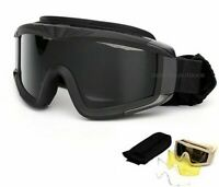 Black Green Military Tactical Goggles Oculos Airsoft Glasses Paintball Shooting