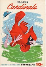 1960 (6/6) Baseball Program Philadelphia Phillies @ St. Louis Cardinals, scored