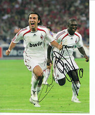 Andrea Pirlo & Clarence Seedorf Signed 10X8 Photo A.C. Milan AFTAL COA (1239)