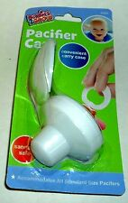 BABIES2GROW Convenient Carry PACIFIER CASE All Sizes New In Package WHITE