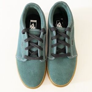 NEW VANS BOYS/YOUTH OLD SKOOL SNEAKERS/SHOES SIZE 4 Green Suede Lace Up