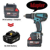 For Milwaukee M18 18V Convert to MAKITA 18V Series Li-ion Battery Tool Adapter