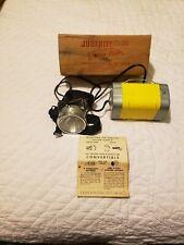 Vintage NOS Justrite Yellow Flash Miner Headlight  # 1930
