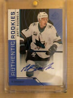 2018-19 SP Game Used Authentic Rookies Auto Antti Suomela - San Jose Sharks #192
