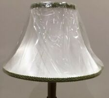 Brand New Large Table Lampshade Bell Shape, Satin White Colour /Pattern Braiding