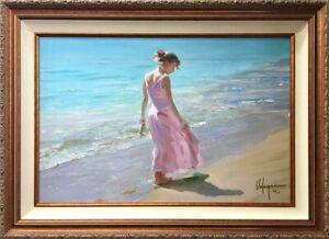 "Vladimir Volegov ""Pretty in Pink"" S/N on Canvas Framed #160/295 - 45.5"" x 33.5"""