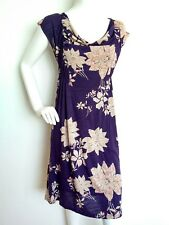 WHITE STUFF casual jersey dress size 12 --BRAND NEW-- floral print knee length