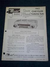 Bendix Service Manual~1963 Chrysler Car Radio~R3BC 343