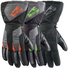 Arctic Cat Adult Advantage Insulated High-Cuff Gloves - Orange, Green, Black