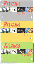 Riviera Las Vegas Hotel Casino Player's Rewards slot card set of 3 Different Lot
