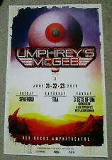 Umphrey's McGee w/ Spafford 2019 Red Rocks Promo Concert Flyer 11x17 Gig Poster