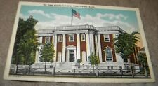 VINTAGE NEW PUBLIC LIBRARY, NEW HAVEN, CONNECTICUT UNPOSTED POST CARD