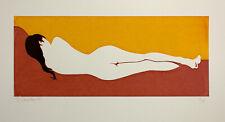 Nude Girl Screen print hand made original design nu woman female pop art home