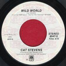"CAT STEVENS ""Wild World / Moonshadow"" A&M 8547 NM Reissue Rock"