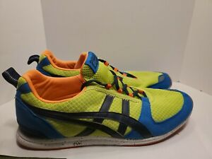 Asics Onitsuka Tiger D3R1N Running Shoes Mens 10.5 Blue Green Orange Read Desc