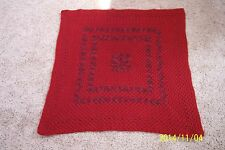 New Baby Blanket - Hand Crocheted - Caron Simply Soft -Autumn Red-Wonderful Gift