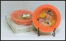 Habersham Candle Wax Pottery Vessel Flameless Bowl Candle - Figs & Melon