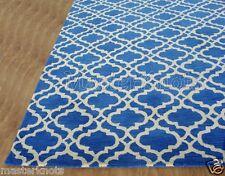 New Riyana Scroll Tile Blue 10x14 14x10 Handmade Wool Area Rug Carpet