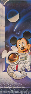LOT OF 2 DOOR POSTERS :   MICKEY MOUSE - ASTRONAUT    FREE SHIPPING !   RAP1 C