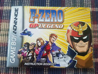 F-Zero GP Legend - Authentic - Nintendo Game Boy Advance - GBA - Manual Only!