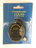 EAR PHONE AM RADIO EARMATE EARPIECE TRANSISTOR RADIO COMPUSONIC