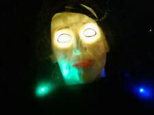 Halloween Fortune Teller Spirit Ball Light Up, Sound Activated ,Talking Head