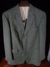 Men's Irvine Park Olive Green 3 Button Blazer/Jacket Size 44 L; Made in India