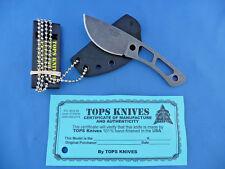 TOPS Backup Knife 1095 Carbon Steel Kydex Neck Sheath TBKP-01