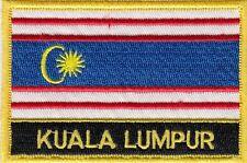 Kuala Lumpur City Malaysia Flag Embroidered Patch Badge - Sew or Iron on