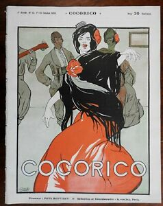 Dancing Woman Gose cover Kupka Cocorico 1900 French Art Nouveau magazine