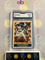 1990 Sportflics Ryan Sandberg #54 Cubs - 10 GEM MT GMA Graded Baseball Card