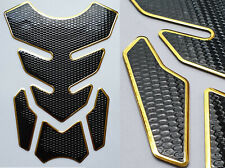 Tankpad Tankschutz Motorrad Carbon Schwarz Gold Optik universal Suzuki Honda