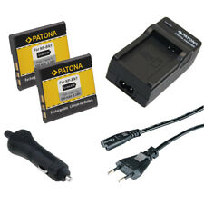 2x Batteria Patona + caricabatterie casa/auto per Sony DSC-TX55,DSC-TX66,DSC-TX7