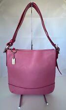 Coach Legacy Slim Duffle Crossbody Pink Pebbled Leather 1427