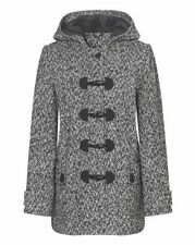 Tweed Patternless Casual Plus Size Coats & Jackets for Women