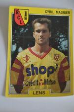 PANINI VIGNETTE STICKERS FOOTBALL FOOT 92 N°75 LENS CYRIL MAGNIER