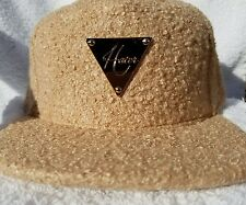 Hater Snapback Hat Tan Boucle Gold Buckle Back Limited Edition Exclusive Hat