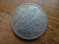 1886 India Victoria Empress Silver Rupee Coin (ref41B)
