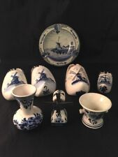 Delft Blue Hand Painted In Holland Blu Blue And White Holland Windmill Canal