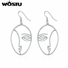 With Rhodium Plating Hot Selling Gifts Wostu Special Beauty Face Hook Earring