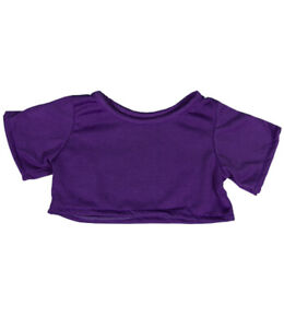 """Purple T-Shirt Teddy Bear Clothes Fits Most 14""""-18"""" Build-a-bear and Make Your O"""