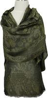 Schal Grün 100% Seide silk soie scarf seta écharpe Sciarpa Vert Verde Green