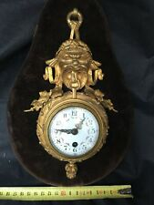 cartel horloge pendule d'applique bronze dore